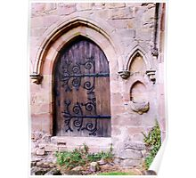 Doorway at Bolton Priory Poster