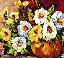 YELLOW AND WHITE FLOWERS BEAUTIFUL BOUQUET  by Carole  Spandau