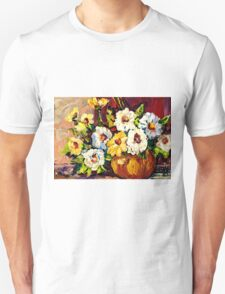 YELLOW AND WHITE FLOWERS BEAUTIFUL BOUQUET  Unisex T-Shirt
