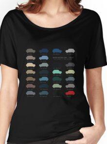 Austin Mini classic - 60's original car colours  Women's Relaxed Fit T-Shirt