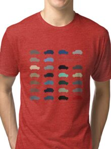 Austin Mini classic - 60's original car colours  Tri-blend T-Shirt
