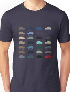 Austin Mini classic - 60's original car colours  Unisex T-Shirt