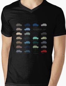 Austin Mini classic - 60's original car colours  Mens V-Neck T-Shirt