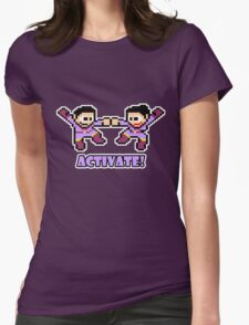 Mega Wonder Twins Womens Fitted T-Shirt