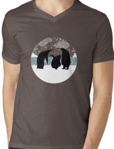 Penguins Mens V-Neck T-Shirt