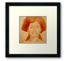 Raw Sienna Study #6 Framed Print