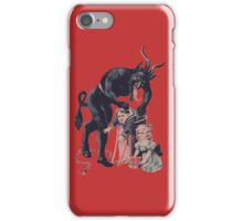 Merry Christmas from Krampus! iPhone Case/Skin