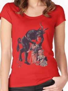 Merry Christmas from Krampus! Women's Fitted Scoop T-Shirt
