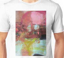 Red Pink Green abstract print  Unisex T-Shirt