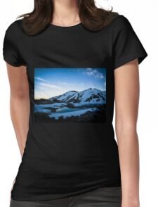 Tranquil Lake Sunset Womens Fitted T-Shirt