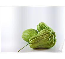 Three green chokos Poster