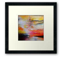 Red Blue orange painting, Abstract Landscape  Framed Print