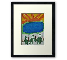 And their ghosts may be heard as they march by that billabong Framed Print