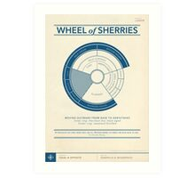 The Wheel of Sherries Art Print