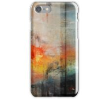 Large Abstract Art, Blue Orange Abstract Print  iPhone Case/Skin