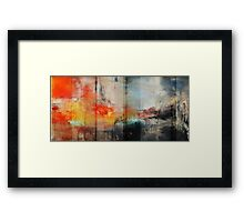 Large Abstract Art, Blue Orange Abstract Print  Framed Print