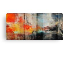 Large Abstract Art, Blue Orange Abstract Print  Canvas Print