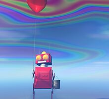 Little Red Birthday Robot 2 by mdkgraphics