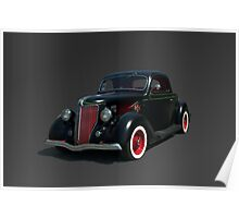 1936 Ford Custom Coupe in Primer Poster