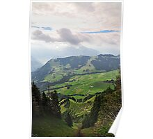 valley in the alps Poster