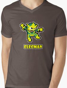 Elecman Mens V-Neck T-Shirt