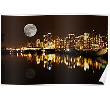Vancouver at Night : Canada Poster