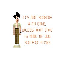 The IT Crowd – Dog Poo and Knives Cake Photographic Print