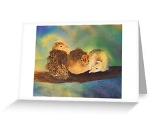 """""""Turkey Toddler Trio"""" - Baby Turkeys on the Roost Greeting Card"""