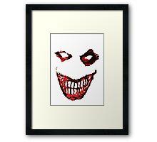 Joker Creepy Smile. Framed Print