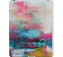Aqua Pink Abstract Print from Original Painting  iPad Case/Skin