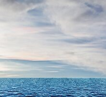 ocean and cloudy sky by Ingvar Bjork Photography