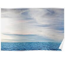 ocean and cloudy sky Poster