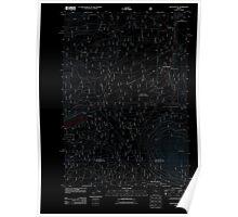 USGS Topo Map Oregon Black Butte 20110808 TM Inverted Poster