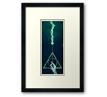 The three Hallows: Lord Voldemort's avada kedavra Framed Print