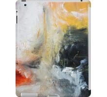Orange Black Abstract Print  iPad Case/Skin