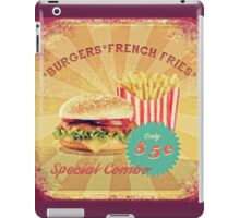 50s Burger and Chips ! iPad Case/Skin