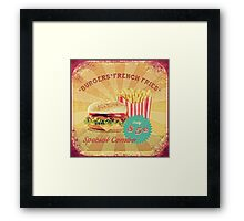 50s Burger and Chips ! Framed Print