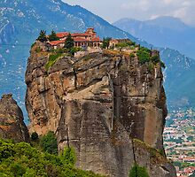 Greece. Meteora. The Monastery of the Holy Trinity. by vadim19