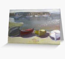 """Boats at rest - Capri, Italy"" Greeting Card"