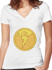 Olympus Coin Women's Fitted V-Neck T-Shirt