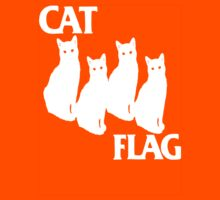cat flag white  by BUB THE ZOMBIE