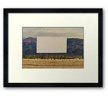 Retro Drive-In Theater Framed Print