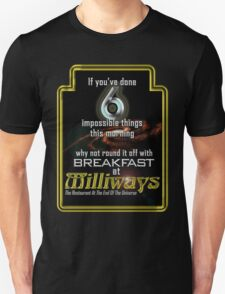 Milliways 6 things Unisex T-Shirt