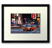 Taxi Please! Framed Print