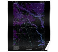 USGS Topo Map Oregon Hehe Butte 280176 1962 24000 Inverted Poster