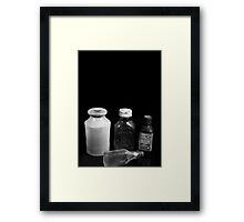 Bottles of Yesterday Framed Print