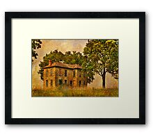 Abandoned Kansas Farmhouse Framed Print