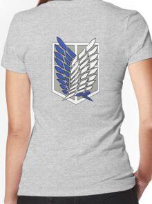 Shingeki no kyojin - Scouting legion Women's Fitted V-Neck T-Shirt