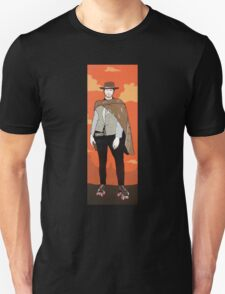 The man with no name but with some skates (with background) Unisex T-Shirt