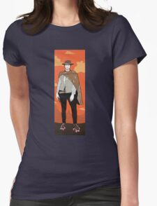 The man with no name but with some skates (with background) Womens Fitted T-Shirt